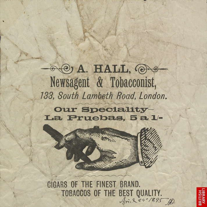 Advert For A. Hall, Newsagent And Tobacconist